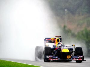 Red Bull car during the race