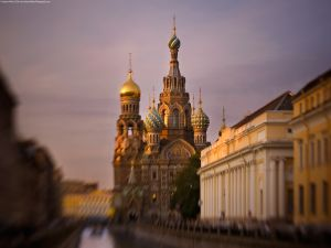 The Church of the Savior on Spilled Blood, in St. Petersburg