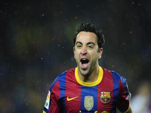 Xavi Hernandez with Barca