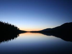 Calm waters at dawn