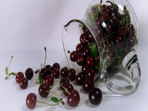 Cherries in a glass jar