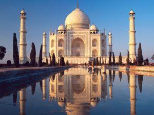 A splendid view of the Taj Mahal