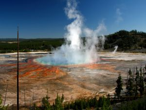 The Yellowstone caldera (Yellowstone National Park)