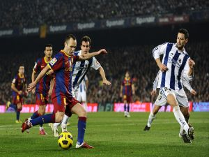 F.C. Barcelona against Real Sociedad