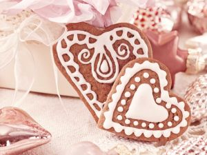 Cookies with shaped heart