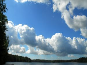 Great clouds in the sky