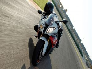 BMW S 1000 RR, on moving