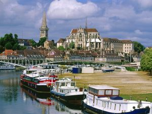 View of Auxerre, Burgundy (France)