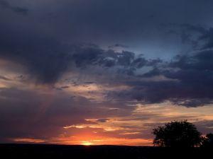 The sun on the horizon