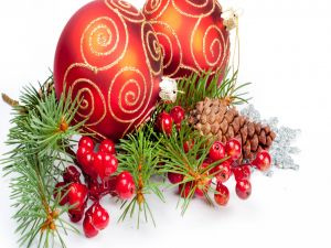 Elements to decorate for Christmas