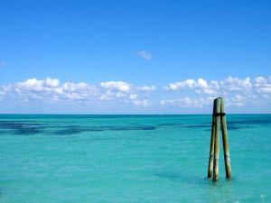 Three sticks in the sea