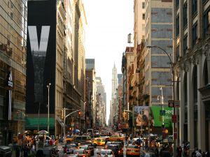 Traffic on a street in New York