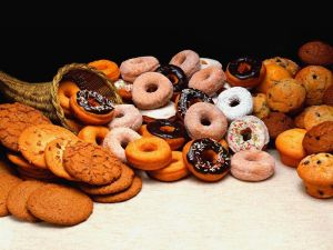 Donuts, cookies and muffins