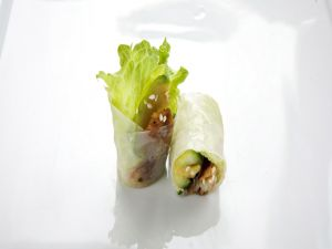 Rice rolls with vegetables