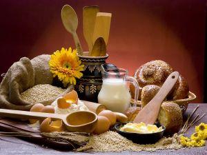 Ingredients to prepare pastries