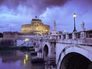 The castle and bridge Sant'Angelo, Rome