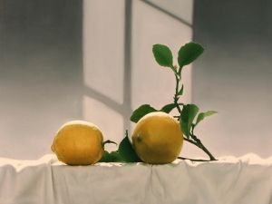 Lemons with branch