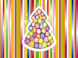 Multicolored Christmas tree