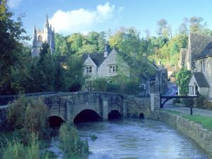 The Bybrook River, in small village Castle Combe (England)