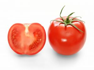 Tomato by outside and by inside