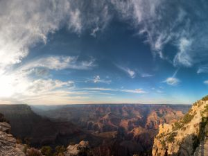 Clouds over Grand Canyon