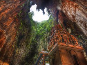 Temple in Batu Caves, a Hindu shrine in Malaysia