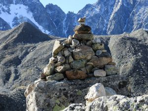 Col d'Arsine (2340 m.) boundary stone