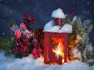 Decorative lamp and ornaments to celebrate Christmas and New Year