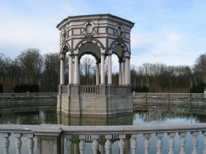"Hexagonal pavilion of baroque park ""Seven Stars"", in Enghien (Belgium)"