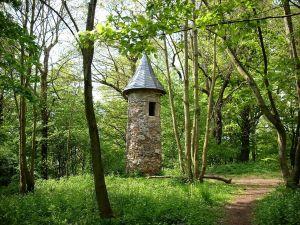 Warttürmchen (small watchtower) in Hohenrode Park, Nordhausen (Thuringia)