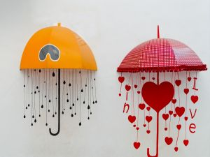 Umbrella for lovers