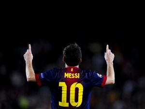Lionel Messi with the 10