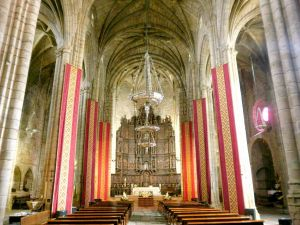 Interior of the Cathedral of Santa Maria, Caceres (Spain)