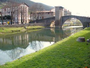 Balmaseda Old Bridge on the River Cadagua (Vizcaya, Spain)
