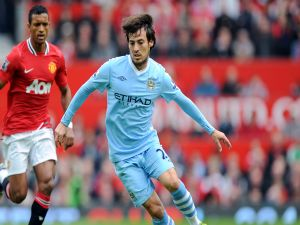 David Silva with Manchester City