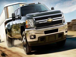 Chevrolet Silverado with trailer