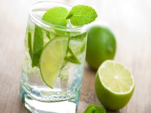 Mojito, cocktail with lime