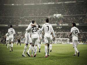 Real Madrid celebrating a goal