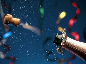 Uncorking the champagne at New Year