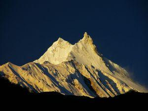 The Manaslu at dawn