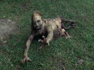 Zombie cut in half