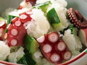 Salad with octopus
