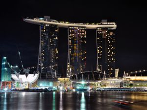 "View of building ""Marina Bay Sands"" in Singapore"