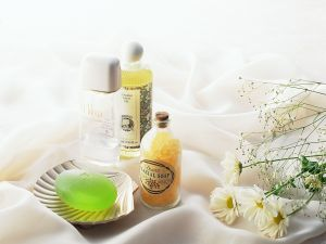 Soaps and flowers