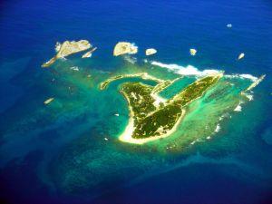 Island in the blue sea
