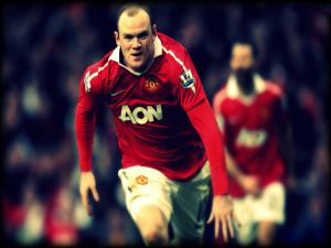 Wayne Rooney with the red shirt of Manchester United