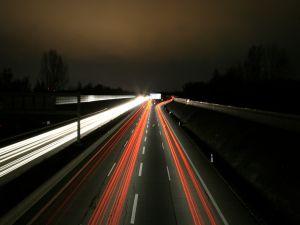 Lights speed on road