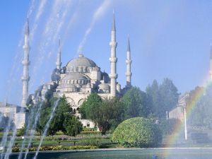 Sultan Ahmed Mosque, in Istanbul (Turkey)