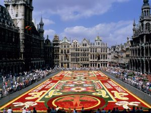 Flower carpet in Grand Place (Brussels)