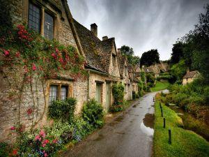Set of stone houses